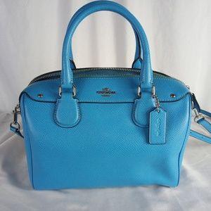 Blue Coach leather purse